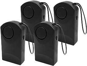 Homyl 4x Home Window Door Knob Alarm System Sensor Battery Powered Household