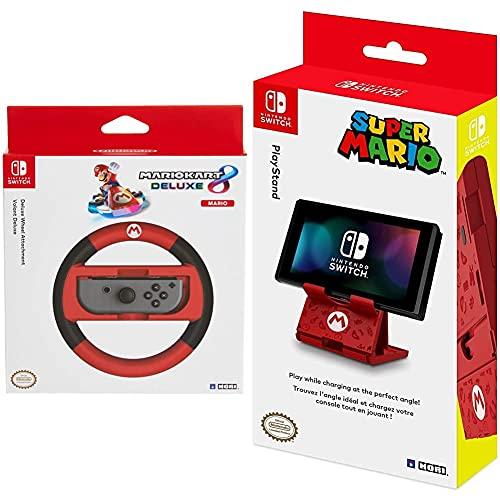 Hori - Volante Mario Kart 8 Deluxe (Nintendo Switch) + PlayStand Super Mario (Nintendo Switch / Switch Lite)