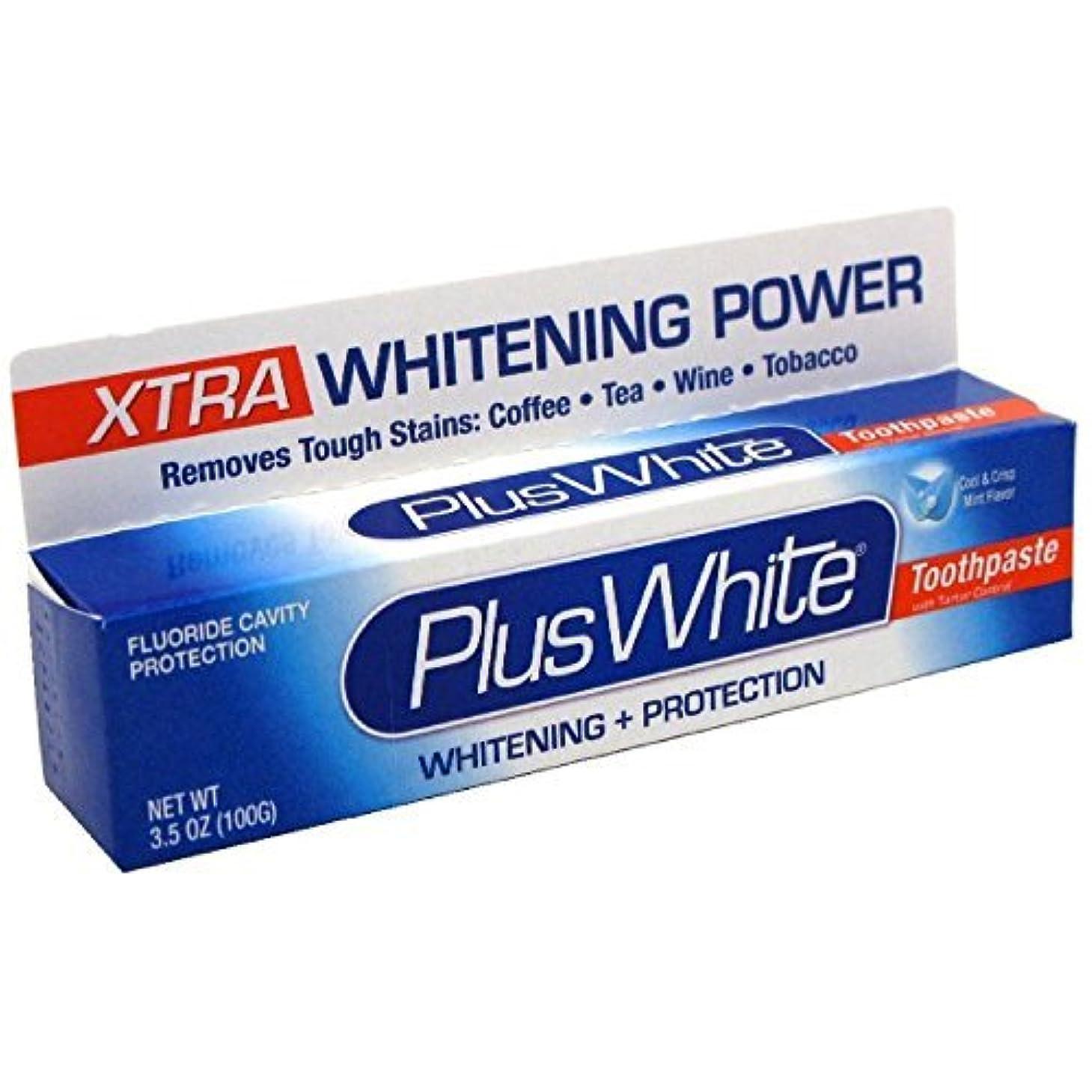 木製頬骨パテPlus White Xtra Whitening Every Day Whitening Toothpaste with Tartar Control, Cool Mint, 3.5 oz by HealthAid