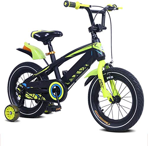 COUYY Bicicleta para niños, Bicicleta de Bicicleta de niño con Ruedas de Entrenamiento Intermitente 12 14 16 18 Pulgadas Rueda de Entrenamiento para niños Bicicleta,12