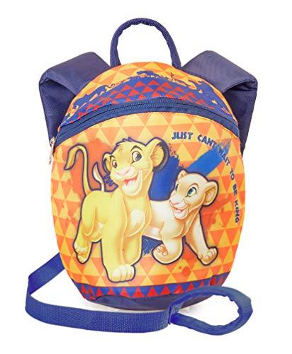 Disney Rucksack mit Zugband | Kindertasche Mit Zügeln | Disney König Der Löwen Für Kinder, Jungen, Mädchen Mit Sicherheitsgurte | Kleinkinder Backpack Mit Zügeln, Perfekt Für Vorschule, Kindergarten