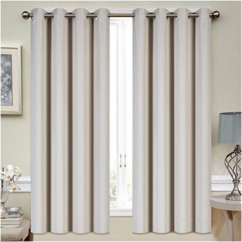Mellanni Thermal Insulated Blackout Curtains 2 Panels Window Treatments Drapes for Bedroom Living product image