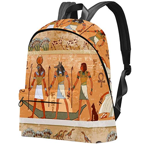 Old Egyptian Gods Pharaohs Bag Teens Student Bookbag Lightweight Shoulder Bags Travel Backpack Daily Backpacks