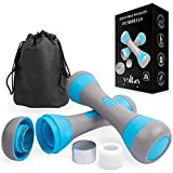 Yeltsy Weights Dumbbells Set for Women, Neoprene Coated Workout Device Interchangeable Discs, Portable Lightweight Hand Equipment Home Gym Office Fitness, Sport Gift