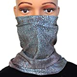 Stylish Snake Skin Mask for Women - Washable Face Protection Neck Gaiter for Motorcycle Riding ATV Cycling Hiking Camping Fishing Hunting Running, Festival Dust Protection
