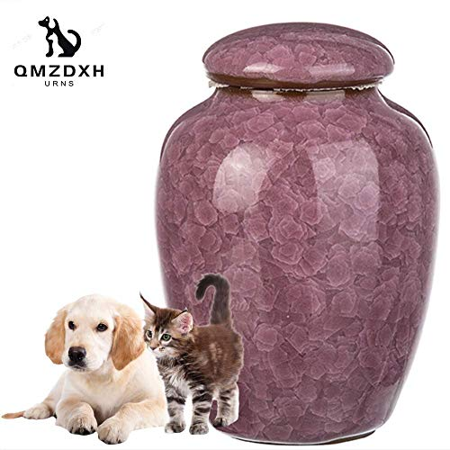 Xiaochongshan Small relic Cremation urn, Cremation Memorial pet Dogs and Cats Gray Casket, Handmade Ceramic urn Best Friends Pet Services (Color : A)