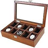 Caja de reloj de madera para mujer, caja de almacenamiento para joyas, caja de almacenamiento, caja para coleccionistas, expositor para el hogar