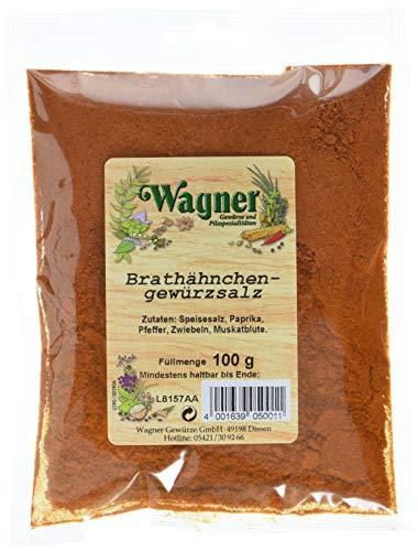 Wagner Gewürze Brathähnchen-Gewürzsalz, 4er Pack (4 x 100 g)