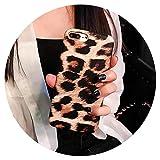 Funda suave para iPhone 7 Plus 6S 6S Plus 8 8plus X XS con estampado de leopardo, diseño de leopardo amarillo para iPhone X