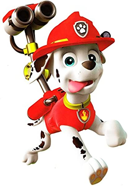8 Inch Marshall Paw Patrol Pup Wall Decal Sticker Pups Puppy Puppies Dog Dogs Removable Peel Self Stick Adhesive Vinyl Decorative Art Kids Room Home Decor Children 6 X 8 Inches