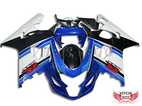 VITCIK (Fairing Kits Fit for GSX-R750 GSX-R600 K4 2004 2005 GSXR 600 750 K4 04 05) Plastic ABS...