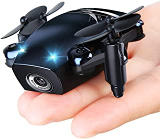 zuhafa S9M Foldable Mini Drones, Mini RC Drones with Camera 720P HD, Portable Drone with Altitude Hold 3D Flips and Headless Mode, Pocket Quadcopter for Boys and Girls