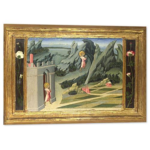 Kuader Heiliger Johannes Bäuerin Böser Blick in die Wüste Johannes von Paul -100 x 70 cm