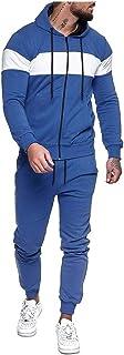 Tuta Da Ginnastica Uomo Pantaloni della felpa con stampa con cerniera e splicing Set di tute sportive