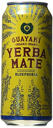 Organic Yerba Mate, Bluephoria, 16 Fl Oz (Pack of 12)