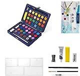 Sivaopa Pintura de Acuarela, 48 Colores Caja de acuarelas, Juego de Pintura de Acuarela Nino, Acuarela Sólida de Alta Pigmentación para Principiantes y Profesionales.