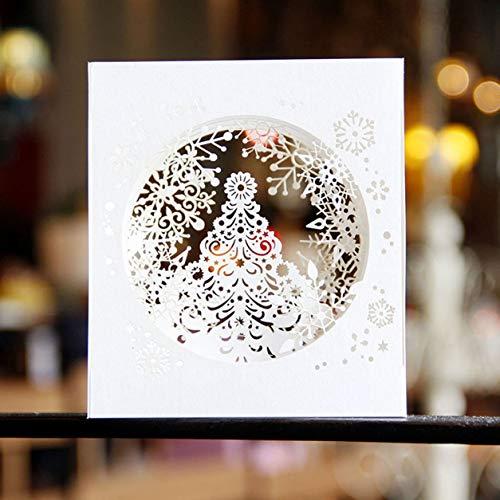 Color Yun 3D Pop-up-Karte Weihnachtskarte Segen Karten Handgemachte Grußkarten DIY Papercraft Karte für Frohe Weihnachten Dankeskarten