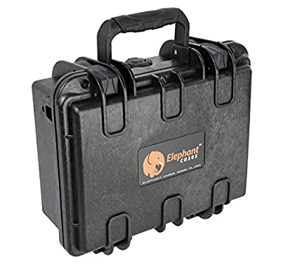 Elephant E120 Handgun Pistol Hard Case for Small to Medium Gun and Magazine Great for The Shooting Range, Safe Storage or Travel Fits Glock, Sig Sauer, Smith & Wesson M&p Under and More Under 8""
