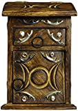 New Age Imports, Inc. Wooden Triple Moon Herb Cupboard