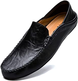 MCICI Mens Loafers Moccasin Driving Shoes Premium Genuine Leather Casual Slip On Flats Fashion Slipper Breathable Big Size
