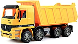 Click N' Play Friction Powered Jumbo Dump Truck Construction Toy Vehicle for Kids
