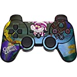 Skinit Decal Gaming Skin for PS3 Dual Shock Wireless Controller - Officially Licensed Disney Cheshire Cat Curiouser Design