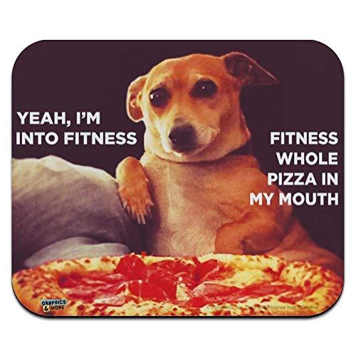 Ja, Ich Bin In Fitness Ganze Pizza In Meinem Mund Lustiger Humor Laptop/Pc Maus Pad Rutschfestem Maus Mat Ultradünner Mauspad Für Office,Geschenk,Gaming,25X30Cm