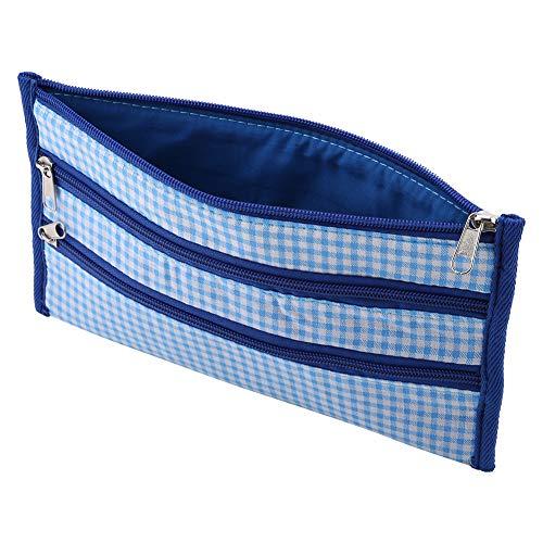 Drie-lagen gehaakte haakzak, blauw gehaakte opbergtas haak haak licht en comfortabele stofdichte oxidatiedoek gemaakt