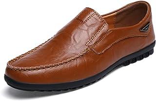 Uomo Business Flats Handmade Pelle Slip su Mocass Moccasins Outdoor Anti Slip Casual Lavoro Scarpe di Guida