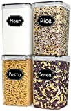 TAEVEKE Extra Large Tall Food Storage Containers, 4PCS/6.5L Plastic Kitchen Pantry Storage...