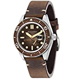 SPINNAKER Men's Croft 43mm Leather Band Steel Case Automatic Watch SP-5058-02