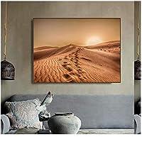 Llxhgサハラ砂漠の風景ポスターキャンバス絵画北欧のポスタープリント家の装飾壁アート風景写真モダンな部屋の装飾-50X70Cmフレームなし