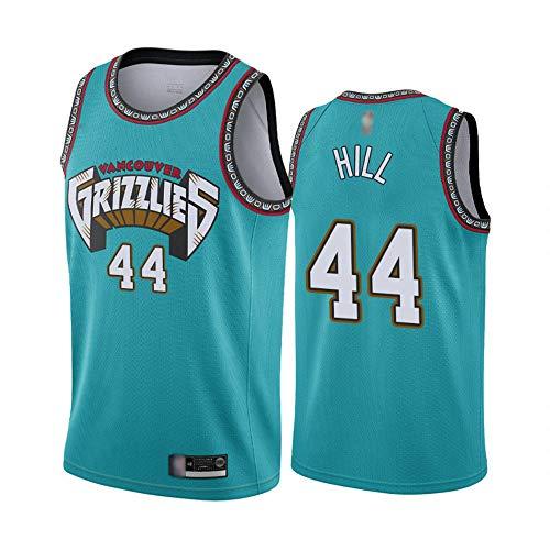 Baloncesto Deportivo De Los Hombres NBA Memphis Grizzlies 44# Grant Henry Hill Jersey, Gimnasio De Secado Rápido Suelto, Ocio Sin Mangas Chaleco Fans Camiseta,Verde,XL(180~185cm)