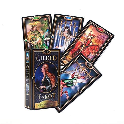 HUNYUAN-LF New Witch Tarot-Karten For Jeden Tag: Fragen Und Das Schicksal Mythische Wahrsagerei Zu La Fortuna Spiele Tischspiele Taort Wissen (Color : 78PCS TT23)