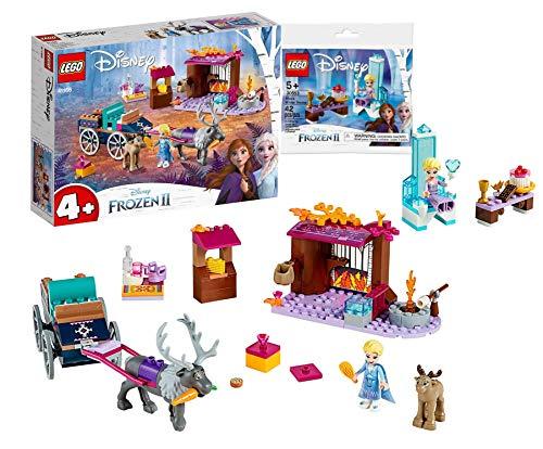 Legoo Lego 41166 Disney ELSA y el Carruaje de reno + trono de Elsa's Winter 30553