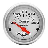 Auto Meter 4337 Ultra-Lite Electric Water Temperature Gauge, Silver
