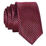 DonDon Cravatta Uomo rossa e nere 5 cm di larghezza