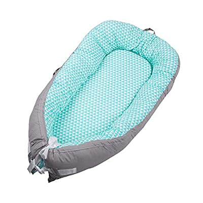 Baby Lounger Nest Portable Travel Bed Infant Co-Sleeping Baby Nest Sleeper for Bassinet Soft Breathable Newborn Essentials Must Have Lounger Pillow