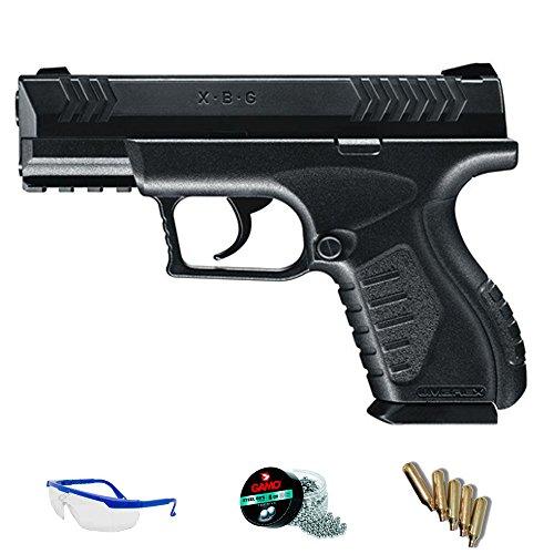 Umarex Pack Pistola XBG de balines - Arma de CO2 Calibre 4.5mm perdigones de Acero <3,5J