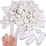 Dedales de látex,MUXItrade cubiertas protectora para los dedos, protegen de la estática, para vendajes secos y limpios - 300 PCS