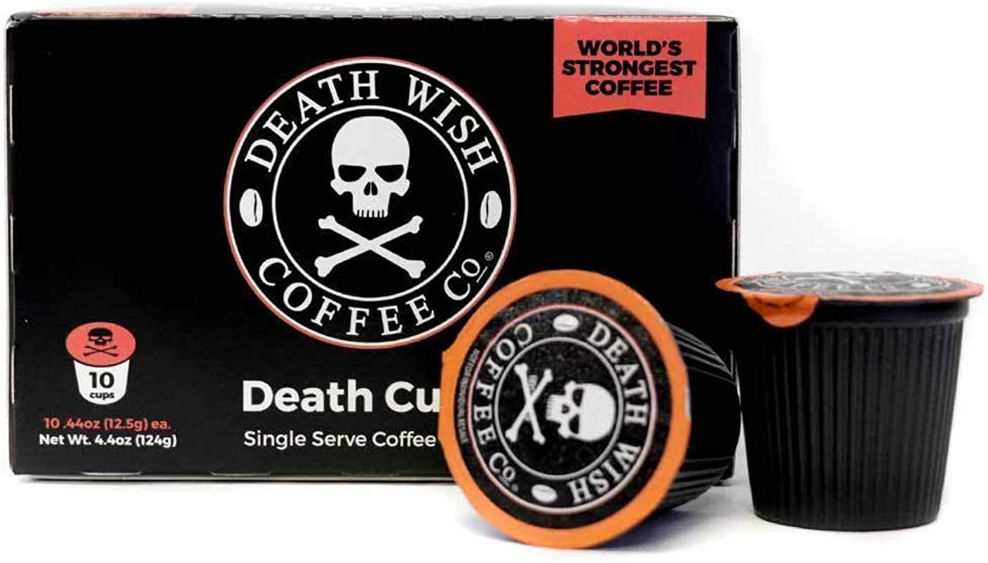 Death Wish Coffee Single Serve Capsules For Keurig K Cup Brewers 10 Count 0 44 Oz