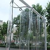 Lona alquitranada Transparente de Vidrio, Cubierta de Hoja para el Suelo, Resistente, para Balcón, Planta, Toldo, Tela de Plástico Resistente a La Lluvia para Jardín, 300 g / ㎡ (Size : 3X3m)