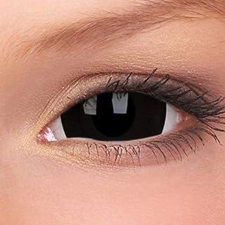 Sclera Lenses Mini Zwart, gekleurde maandlenzen, zwart, zonder gezichtssterkte, 1 stuk