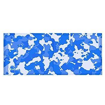 GoPetee Tapis Matelas Rafraîchissant Coussin Niche Couverture pour Chien Chat avec Gel Non Toxique Auto-rafraichissante pour Animal (Poisson Camouflage, L)