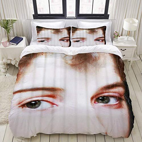 Yaoni Duvet Cover,Pretty Woman Big Eyes Girls,Bedding Set Ultra Comfy Lightweight Microfiber Sets
