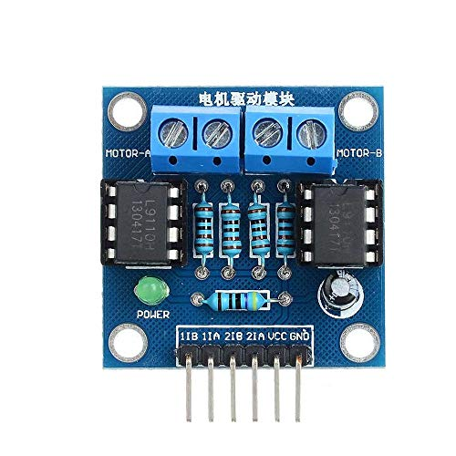 Un known 4.5~6V 2 Chips DC Motor Drive Module with LED Indication For Arduinos Accessory Manual Replacement Of Parts