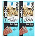 Webbox Cats Delight Tasty Sticks with Cod, 6 x 30g