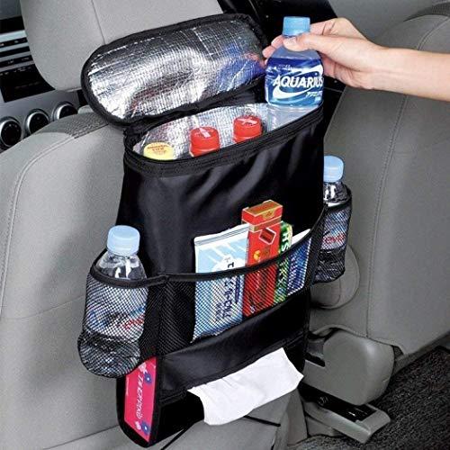 Whatyiu Durable Wear-Proof Multi-Pocket Insulation Standard Car Seat Back Bag Multi-Pocket Travel Storage Bag Organizer for Personal Cars (Heat-Preservation)