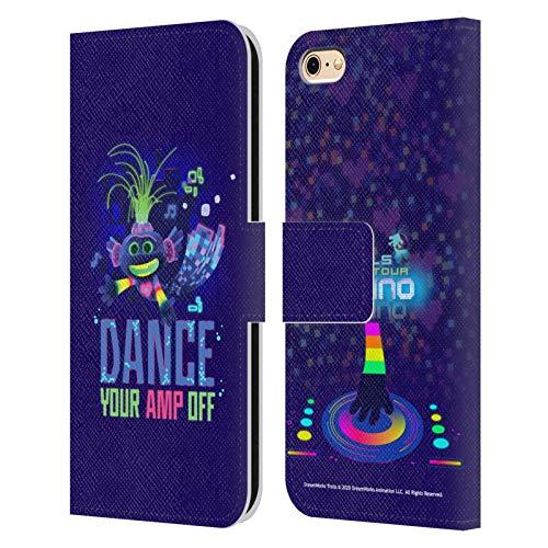 Head Case Designs Licenza Ufficiale Trolls World Tour Pop Techno Assortiti Cover in Pelle a Portafoglio Compatibile con Apple iPhone 6 / iPhone 6s