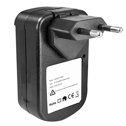 kj-vertrieb Akku - Ladegerät kompatibel mit Samsung Galaxy S2 i9100, Galaxy R, Galaxy Kamera EK-GC100, 120 - mit USB-Anschluss